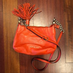 Michael Kors Orange Leather Crossbody Bag